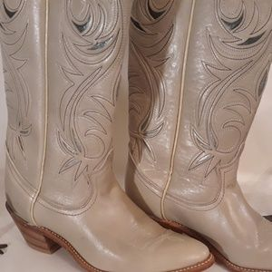 Woman's ACME Western Leather Boots ACME 7M US